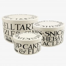 Emma Bridgewater Black Toast Set 3  Cake Tins
