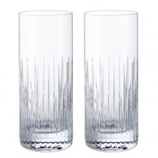 Dartington Limelight Mitre Highball Glasses Pair