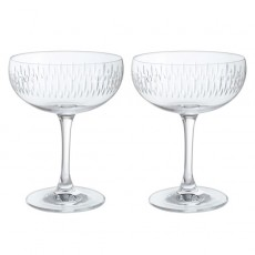 Dartington Limelight Mitre Champagne Saucer Pair
