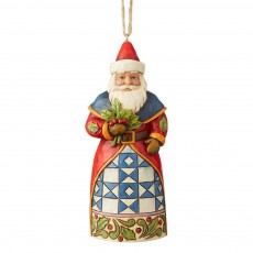 Jim Shore Santa With Holly Ornament
