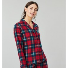 Joules Cait Button Through Long Sleeve Classic Pj Top