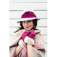 Tamara Wool Gloves-Fuchsia