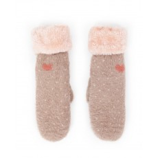 Polly Cosy Mittens-Stone