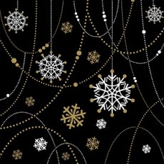 Snow Black Napkin