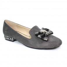 Lunar Rutter III Grey Bow Trim Pump