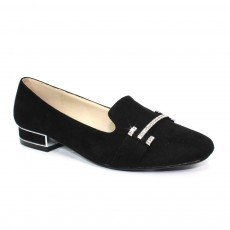 Lunar Beattie Black Feature Heel Loafer