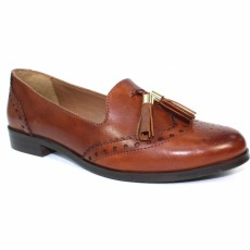 Lunar Ravello Tan Leather Tassel Loafer