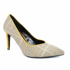 Lunar Samia Beige/Yellow Court Shoe