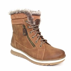 Lunar Amelia Tan Fur Trim Boot