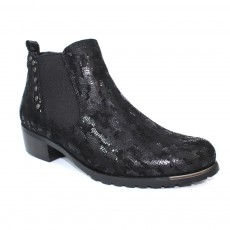 Lunar Candice Black Print Fashion Boot