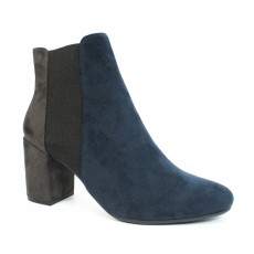 Lunar Indigo Black Fashion Ankle Boot