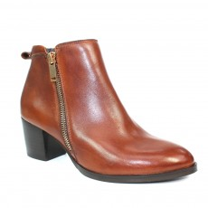 Lunar Dubai Brown Heeled Leather Boot