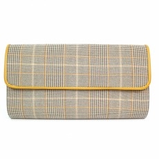 Lunar Samia Beige/Yellow Clutch Bag