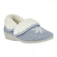 Lotus Irene Blue Slippers
