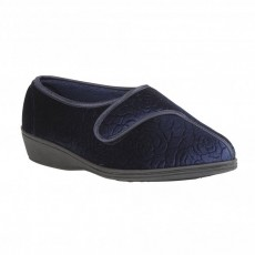 Lotus Tiffany Navy Slippers