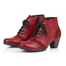 Remonte Red Lace Up Boot