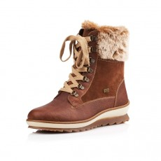 Remonte Brown Fur Topped Boot