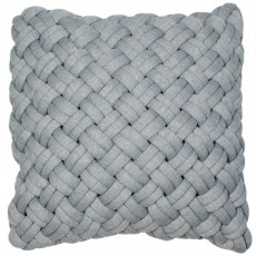 Zubair Chunky Weave Knitted Cushion Cover Grey 45 x 45