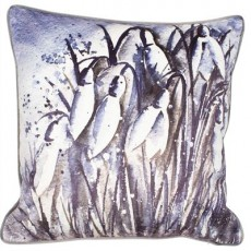 Snow Drop On Velvet Print Cushion