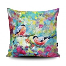 Sue Gardner Bullfinches Cushion