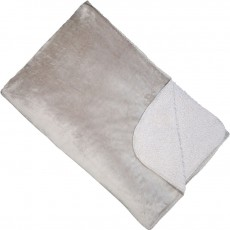 Softest Fleece Throw Silver 150 x 200