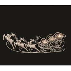 Christmas Reindeer & Sleigh Tea Lite Holder