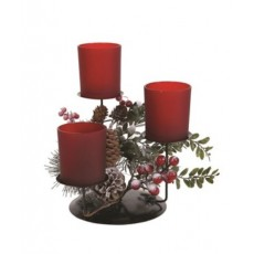 Christmas Frost Floral Candle Holder