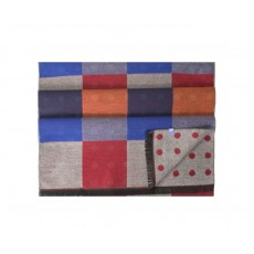 Tresanti Checked Dotted Scarf Burned Red