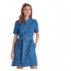 Barbour Sboard Denim Dress Mid Wash