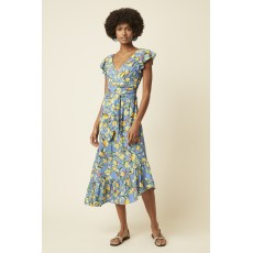 Great Plains Sorrento Lemon SS V Neck Dress