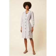 Great Plains Nala Stripe LS Shirt Dress Space Navy