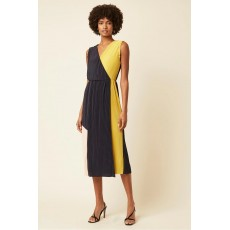 Great Plains Messina Jersey Sleeveless V Neck Dress Marine Blue