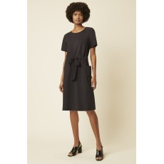 Great Plains Pia Ponte Ss Rnd Nk Dress Black