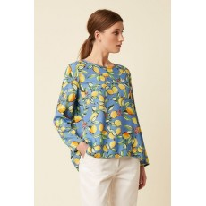 Great Plains Sorrento Lemon LS Round Neck Top