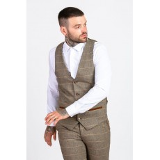 Marc Darcy Ted Tweed Check Waistcoat