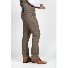 Marc Darcy Ted Tweed Check Trousers