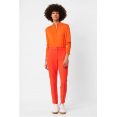 French Connection Adisa Sundae Suiting Tailored Trousers Poppy Red