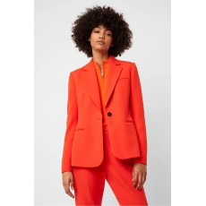 French Connection Adisa Sundae Suiting Tailored Jacket Poppy Red