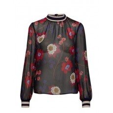 French Connection Eloise Crinkle L/S Printed Top