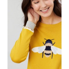 Joules Miranda Updated Crew Neck Intarsia Block