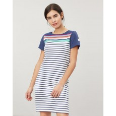 Joules Riviera Printed Dress With Short Sleeves