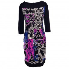 Joseph Ribkoff Dress Black & Blue