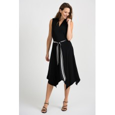 Joseph Ribkoff Black/Vanilla Dress