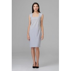 Joseph Ribkoff Grey Pearl detail Dress