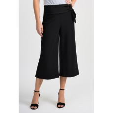 Joseph Ribkoff Wide Leg Crop Black Trousers