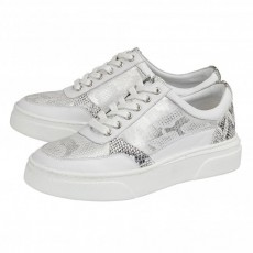 Lotus Venice Trainers White Leather/Snake