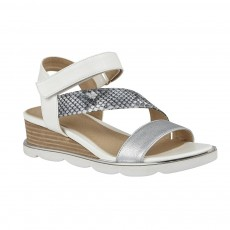 Lotus Sophia Sandals White/Snake
