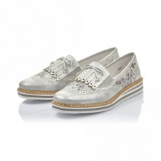 Rieker Loafer Ice/Grey Metallic