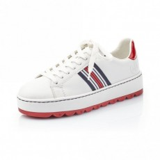 Rieker White Multi Stripe Trainers