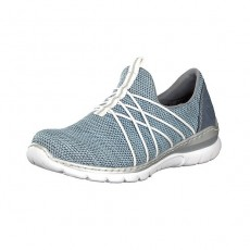 Rieker Slip On Trainers Pale Blue